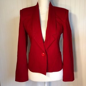 Oleg Cassini | Red Jacket Blazer See Measurements